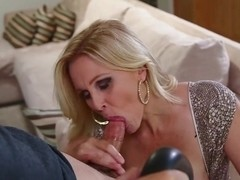 MommyBB Busty MILF Julia Ann is sucking my tied up boyf