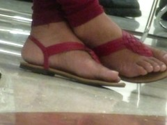 Candid cute thong sandals