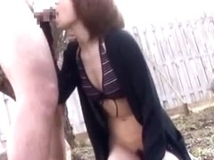 Fabulous Japanese model Risa Mizuki in Crazy Cunnilingus, Outdoor JAV clip