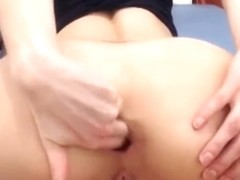 Magic asshole swallows a huge dildo