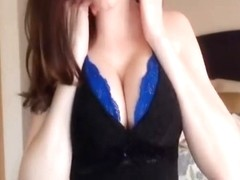 Nerdy brunette giving some awesome cum ejaculation instruction