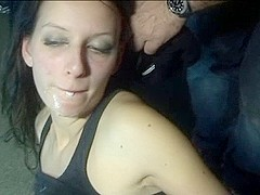Amateur girl gangbanged by several masked guys