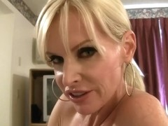 Blonde momy cum lover helping her son