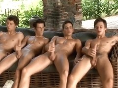 Big Dick BelAmi Buddies stroking each other til cumshot