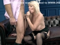 Hot mature blonde fucked by a stud