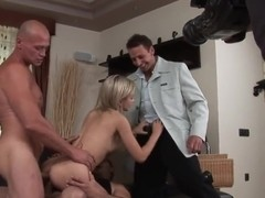 Sasha Rose gets three dicks in all holes