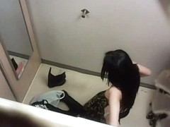 Great sexy voyeur video of hot babe in changing room
