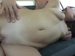 Lovely blonde gets picked up and drilled hard in the back of the van