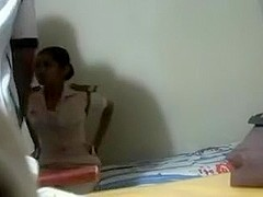 Srilanakan Lady Trainee Drilled With Instructor in Academy