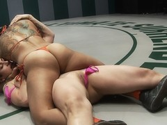 Brutal Head Scissors, Body Locks & Back Breakers & Ass Fucking.The Roughest Match Of The Year - Pu.