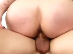 Handsome breasty latino Bella Reese receiveing a cumshot on her face