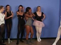 Cfnm Babes Cocksucking During Ballet Lesson