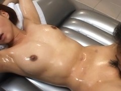 Lovely Japanese hottie rides a stiff cock in the bathtub