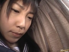 Hina Sakura pretty Asian model plays an anal toy game