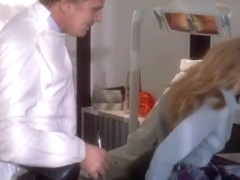 young blonde first time sex on dentist divan
