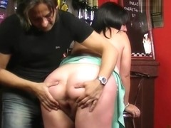 Busty fat ass working women rides his dick