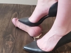 Sunday fun PT1 Amateur Girlfriend crushes my balls in black high heels
