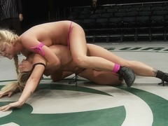 18yr Old Rookie Gets Ass Kicked By Former Fitness Model & Gymnast,Real Non-Scripted Wrestling. - P.